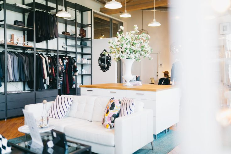 The f-shoppe, tucked inside the Faulhaber Communications Offices. Designed by Alana Fletcher