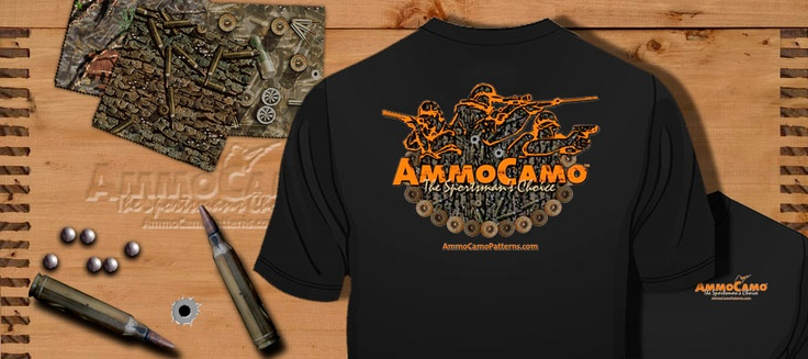 AmmoCamo© is not just another camouflage for your outdoor experiences. It is YOUR representation of the passion you have for your firearms.    The patterns we create are made entirely of images of ammunition so that you not only bear the firearms you care so much about, you wear 'em!    AmmoCamo© is committed to promoting gun rights, gun safety and gun handling through numerous organizations in your community.    It's really about passing on our passion, as a legacy to our children!