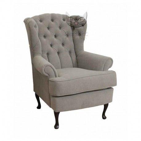 Pikowany fotel retro - Królewski fotel