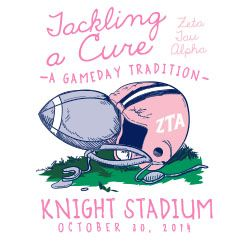Shirts For Greeks | ZTA Tackling A Cure Gameday Tradition Football Helmet