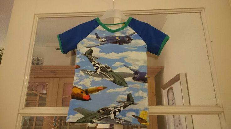 Raglan shirt vliegtuigen
