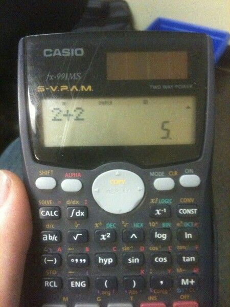 I had this calculator that when I put in two number to divide it would just turn it in to a fraction...it's like thank you, but all fractions are division! This doesn't help!