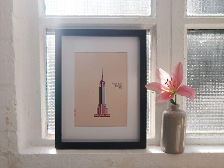 Empire State Building, illustrated and handscreened by MAR @ Smeraldina-Rima Sweatshop