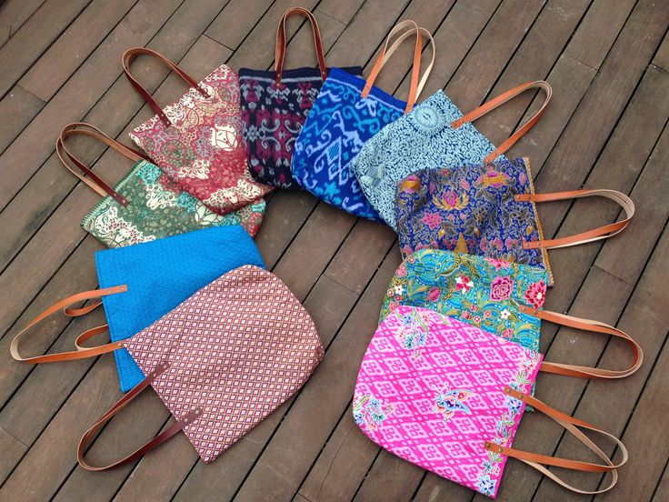 Tote Bag made in Spain with fabrics from Thailand, Malaysia, Indonesia