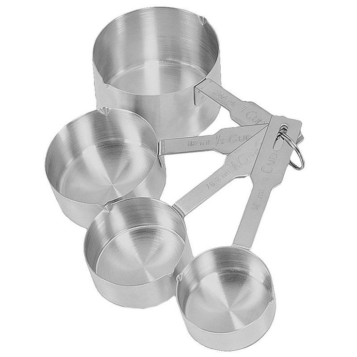 Fox Run Brands 4-pc. Deluxe Measuring Cup Set, Grey