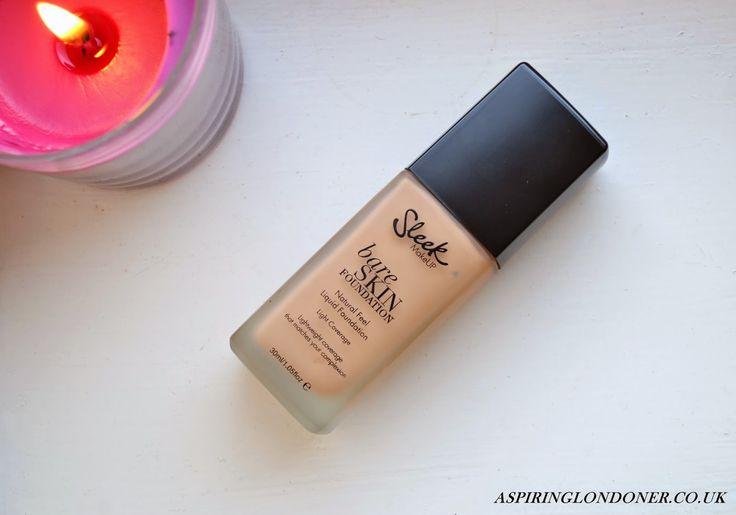 Sleek MakeUp Bare Skin Foundation Review & Swatch - Aspiring Londoner #sleek #foundation #makeup #review #bareskin #beauty