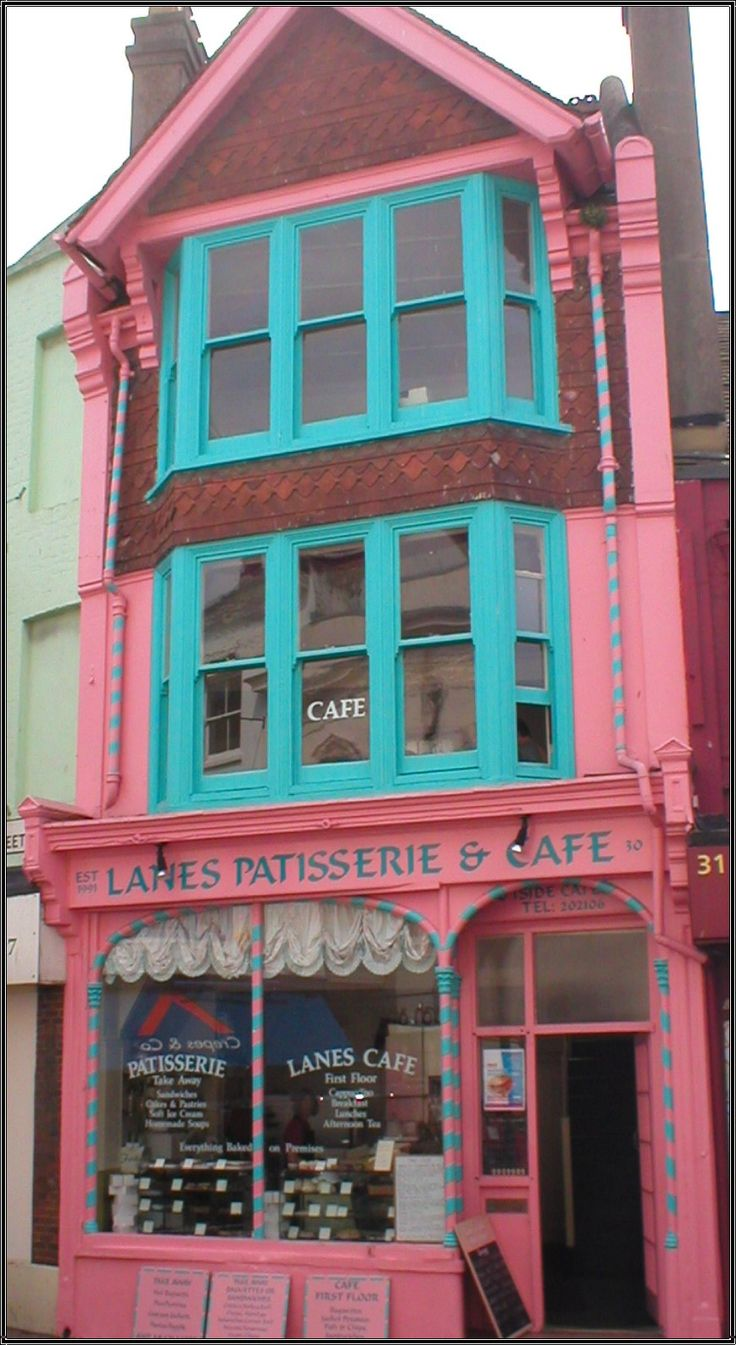 Love the bright, almost Victorian detail for Rana's patisserie, just altering the pink and blue to a truer pink and lighter green.