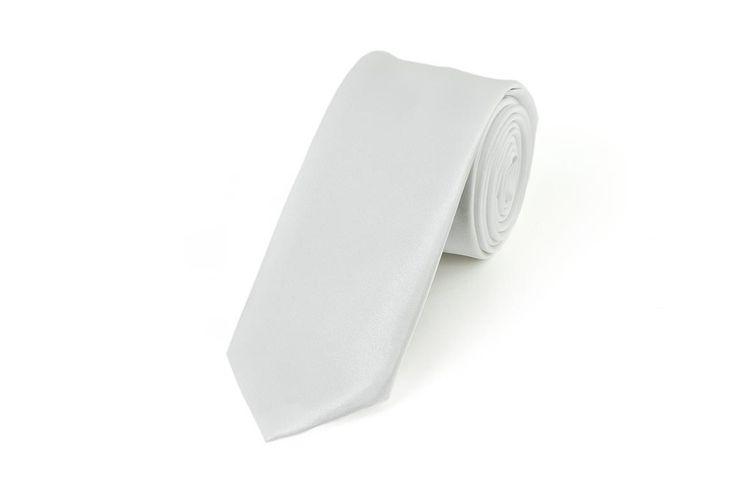 Satin White Necktie