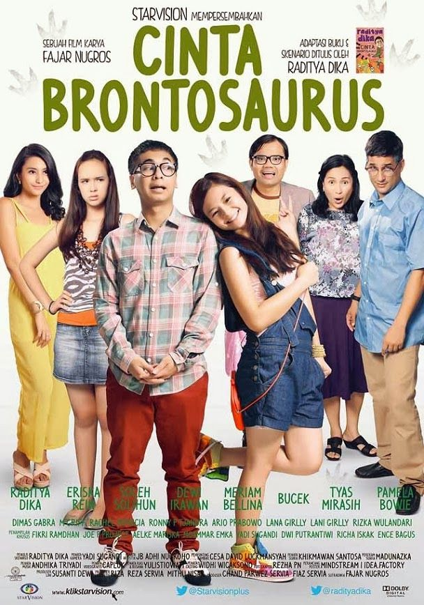 Selamat nonton Film Cinta Brontosaurus Online dan jangan lupa buat share ke temen kamu ya Sutradara : Fajar Nugros Produser : Chand Parwez Servia dan Fiaz Servia Pemeran : Raditya Dika, Eriska Reinisa, Soleh Solihun, Pamela Bowie, Tyas Mirasih, Meriam Bellina, Ronny P. Tjandra - See more at: http://zonafilmonline.blogspot.com/2013/12/film-cinta-brontosaurus.html#sthash.cPAqEN2h.dpuf