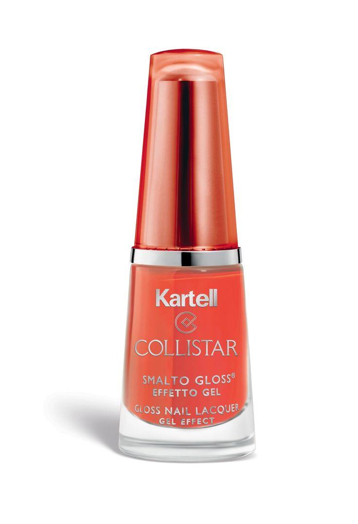 Smalto Gloss N° 544 Arancio Mobil#Collistar #beauty #italy #Kartell #design #Trasparenze #Transparency #2015 #makeup #smalto #nails #unghie #gloss #orange #arancio