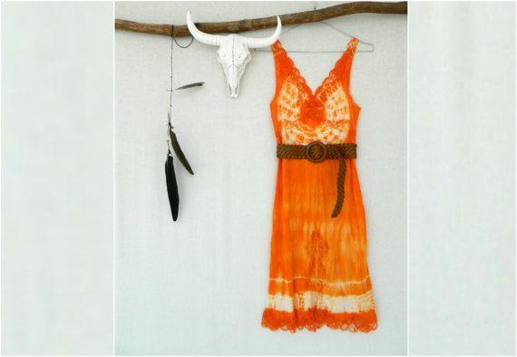 WANDERLUST . women's tie dye dress . size 10 . by bohemianbabes