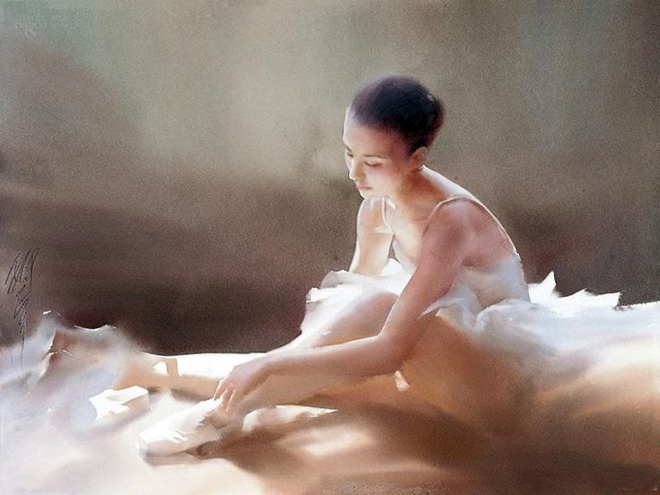 Liu Yi 1958 | Chinese Figurative Watercolour painter | The Ballet dancer | Tutt'Art@ | Pittura * Scultura * Poesia * Musica |
