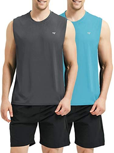 6a3daeee Roadbox Men's Performance Sleeveless Workout Muscle Bodybuilding Shirt  Athletic Running Quick-Dry T-Shirt