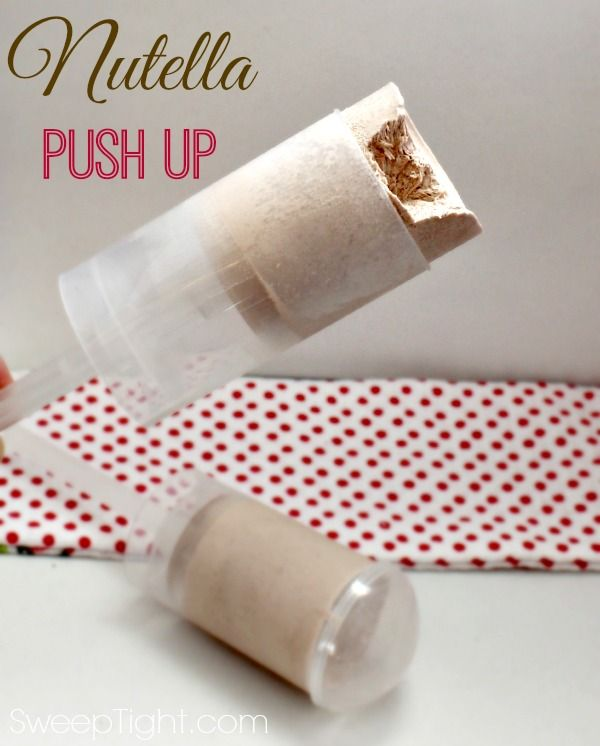 3 Ingredient Nutella Push up, so simple to make and so decadent! |Sweep Tight