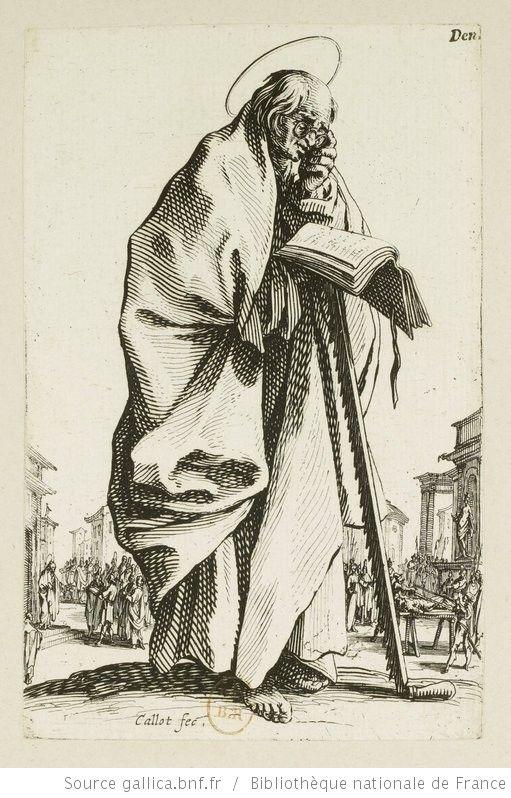 [Les grands apôtres debout, représentant le Sauveur, la Bienheureuse Marie et les saints apôtres]. [13], [Saint Simon] : [estampe] / Callot fec. - 1