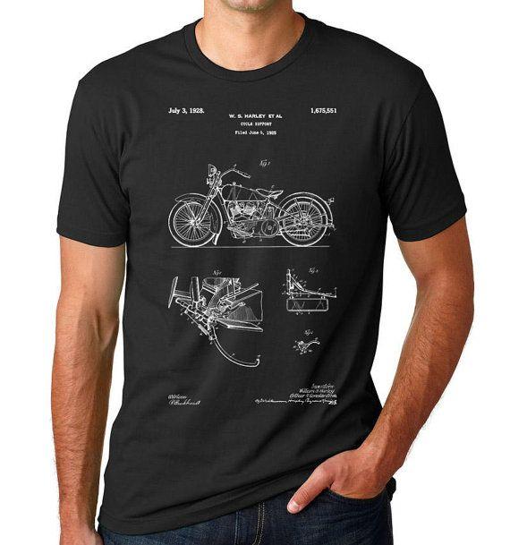 Harley Davidson modèle JD brevet T Shirt Vintage par PatentPrints