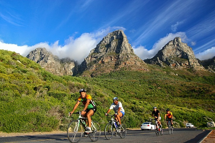 Cycling is a great way to see landmarks, such as Table Mountain, from a completely new perspective.