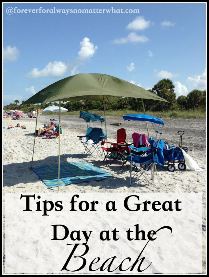 Tips for a Great Day at the Beach via @ Forever, For Always, No Matter What