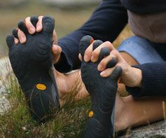 """Barefoot sports: Walking. Running. Surfing. If you can't do it """"bare,"""" then do it Vibram."""