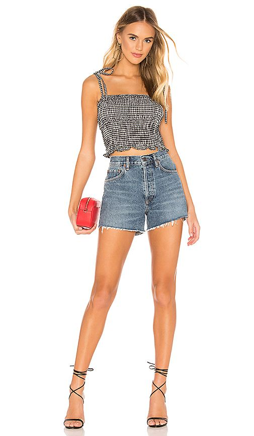 3e9a82dcc3f1 superdown Maggie Smocked Tie Top in Black Gingham | REVOLVE | want ...