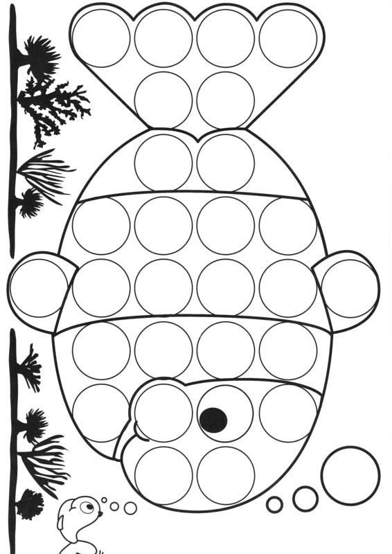 It's just a photo of Unforgettable Do a Dot Coloring Pages