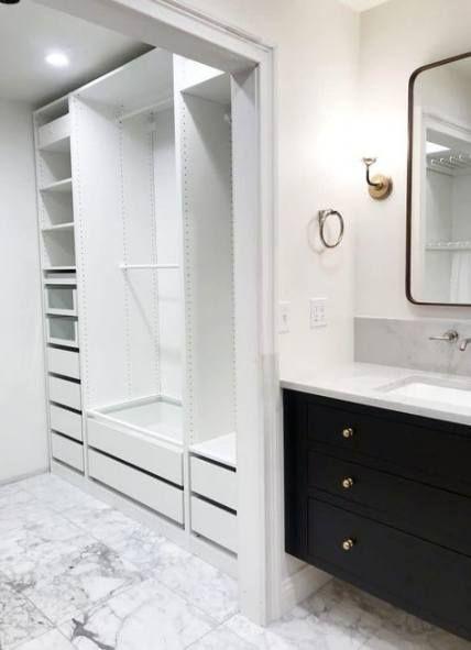 22 trendy master bathroom closet combo  ikea closet