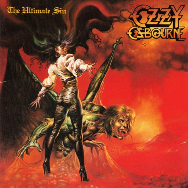Ozzy Ozbourne - The Ultimate Sin. First pressing from 1986.