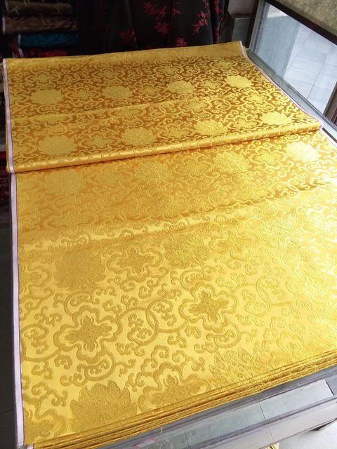 Chino tela de brocado de seda cheongsam cojín del qipao clásica todo oro color natural FUGUI patrón