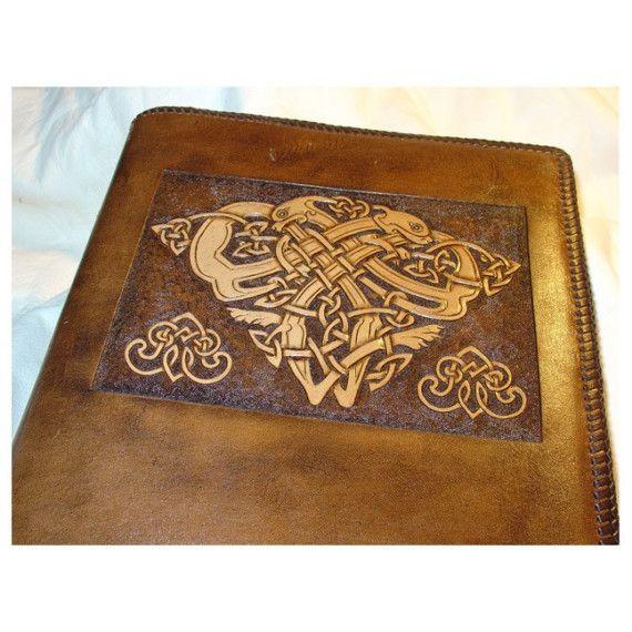 HandTooled Leather Celtic Journal by oakandacorn on Etsy, $270.00