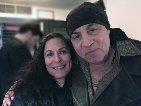Roberta Pacino & Steven Van Zandt at the CHINA DOLL Opening Night after party. Great to meet you Steven! (11/19/15)