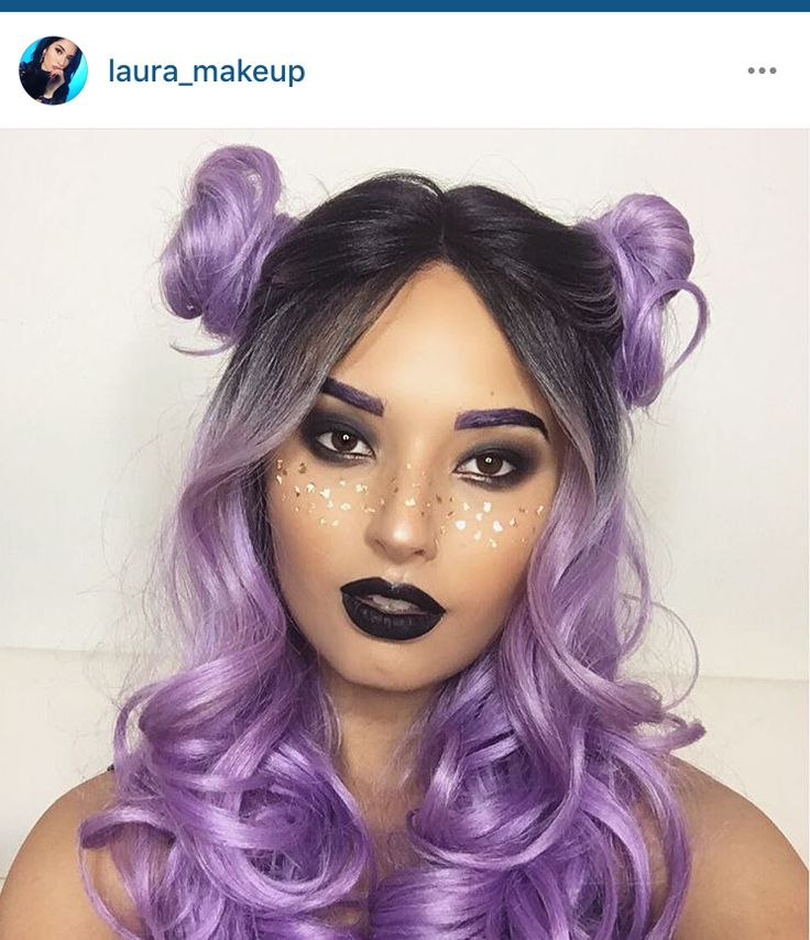 Space Buns // Laura_Makeup on Instagram