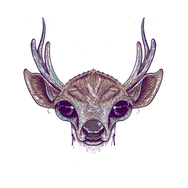 Awesome 'The+Deer' design on TeePublic!