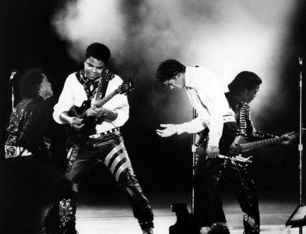 1984: The Jacksons perform at Jacksonville's Gator Bowl.