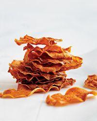 Baked Sweet Potato Chips Recipe on Food & Wine