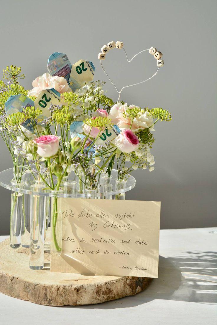Lassen Sie Blumen sprechen – ein besonderes Geschenk   – Geldgeschenk
