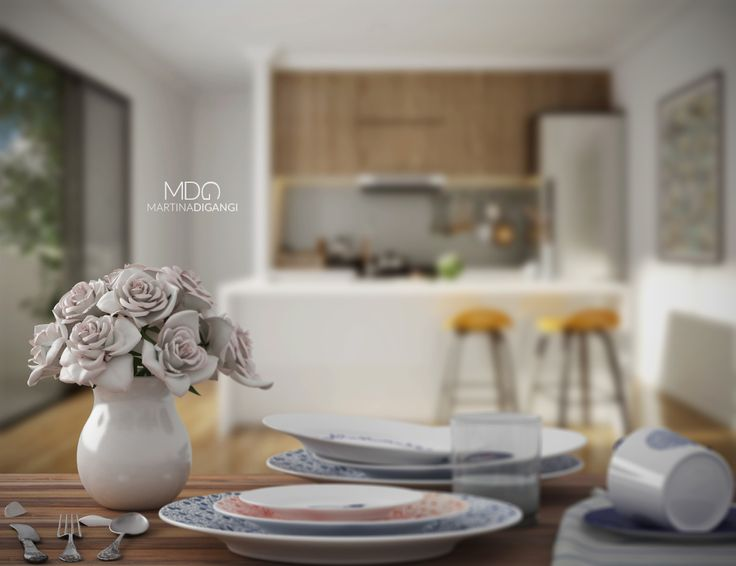 #interior #kitchen #stillLife #dishes #royalDoulton - Rendering: Cinema 4D + Vray Post-produzione: Photoshop, Lightroom