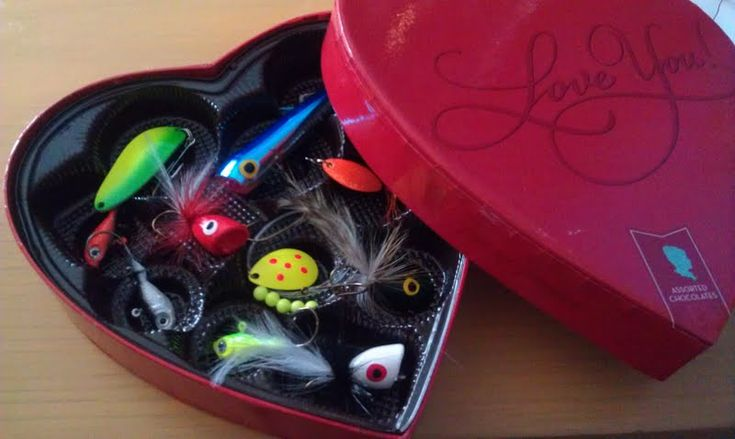 Valentines Day for the Fisherman! Shhhh...this is part of Jonathan's gift.
