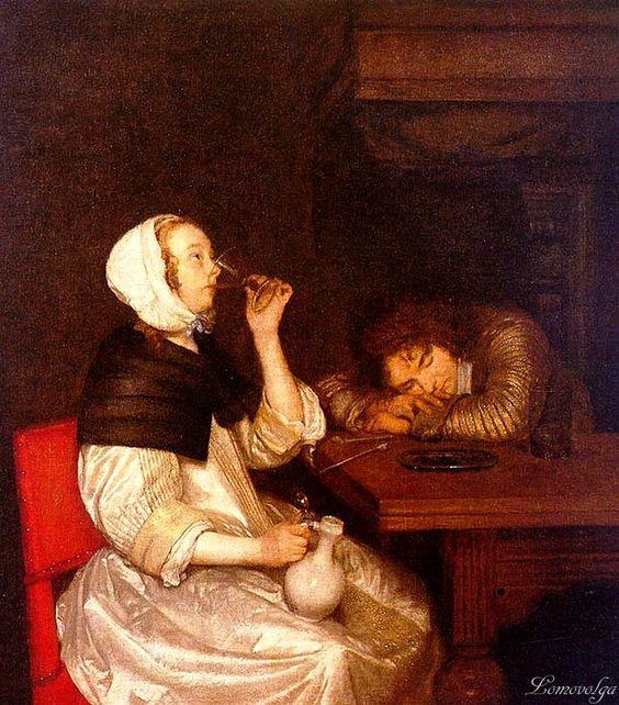 Герард Терборх (Gerard Terborch, 1617-1681) Выпивка: