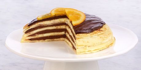 Chocolate Orange Crepe Torte