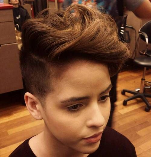 long top short sides hairstyle for women