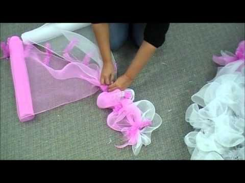 How to make an Easter Deco Mesh Wreath - YouTube