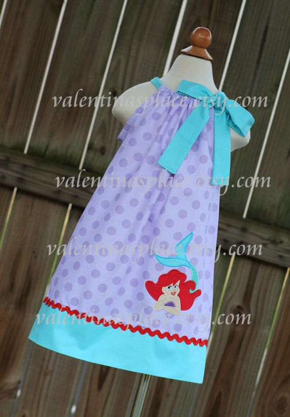 Beautiful Little Mermaid Ariel  princess inspired pillowcase dress