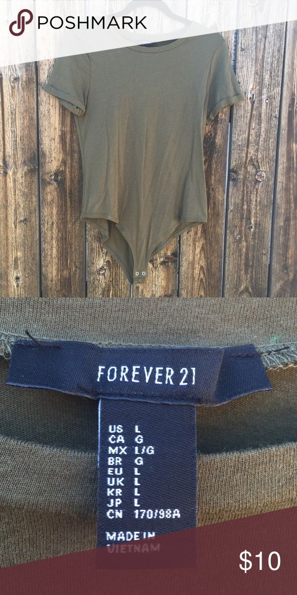 Green Leotard Green leotard from Forever 21. Never used without tags. Size Large. Tops Tees - Short Sleeve