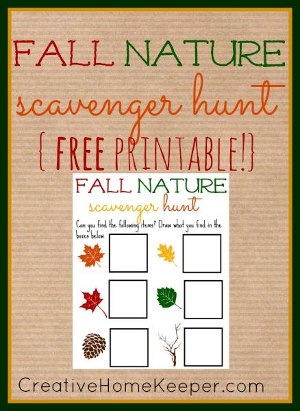 Fall Nature Scavenger Hunt Nature Scavenger Hunts Free Printable And Outdoors