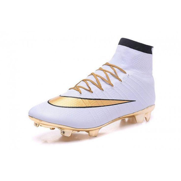 Nouvel Chaussures Ronaldo Nike Mercurial Superfly 4 FG Blanc Or pas cher,blanc or nike mercurial superfly iv, chaussur de foot nike pas cher, cr7 nike mercurial