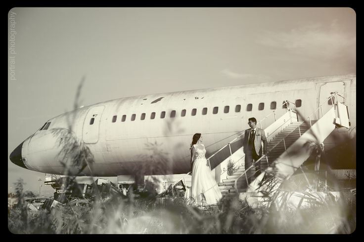 #afterwedding #bride #groom #aeroplane #professionalphotography