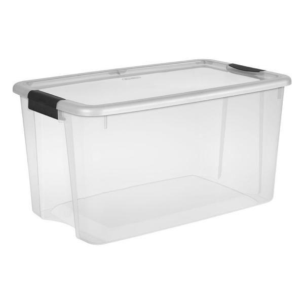 Sterilite 70 Qt Ultra Storage Box, Home Depot Storage Baskets