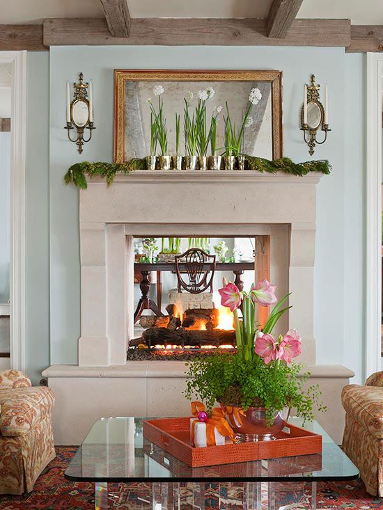 Best 25 two sided fireplace ideas on pinterest bathroom - Living room dining room with fireplace ...