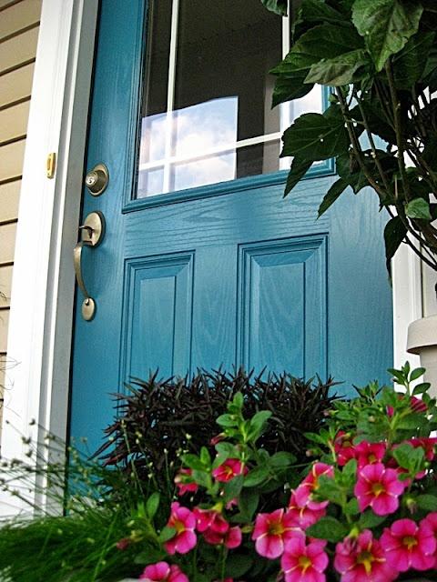 "Benjamin Moore ""Calypso Blue"" 727House Tours, The Doors, Calypso Blue, Blue Doors, Front Doors, Paint Colors, Painting Colors, Benjamin Moore, Doors Colors"