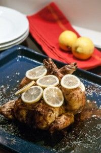 Huhn mit Zitrone und Ingwer